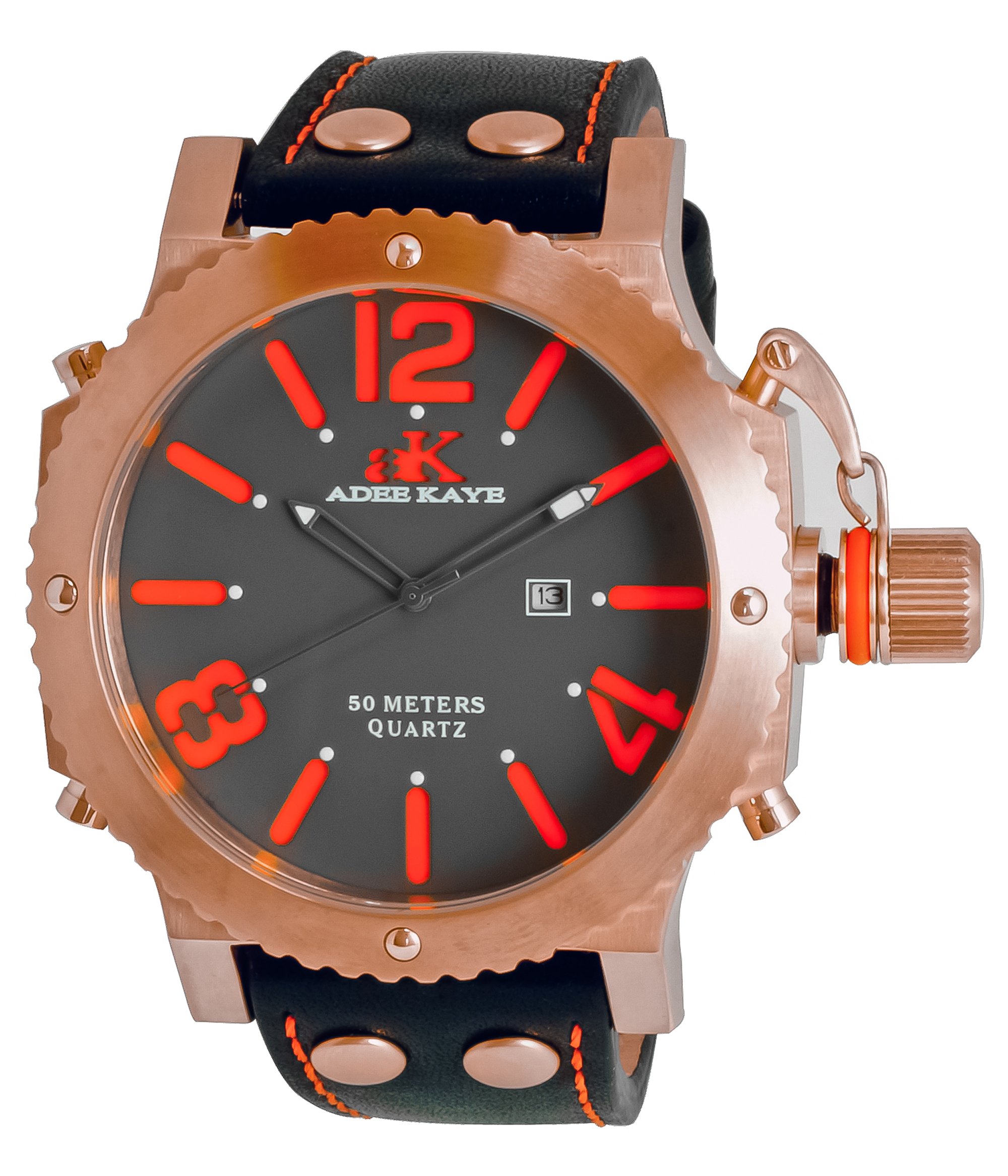 ADEEKAYE AK7211-MRG Mens Mondo G2 Quartz Watch-Gray orange at Sears.com